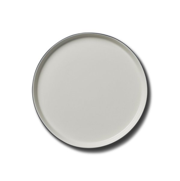Round Large Plate, Coral Colour