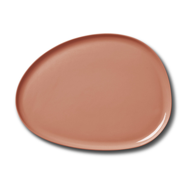 Stone Large Plate, Coral Colour