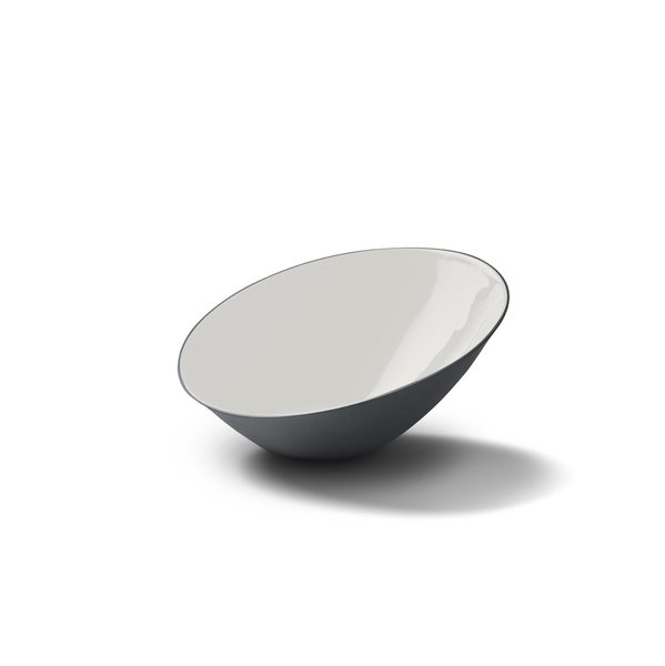 Ellipse Medium Bowl, Black Colour