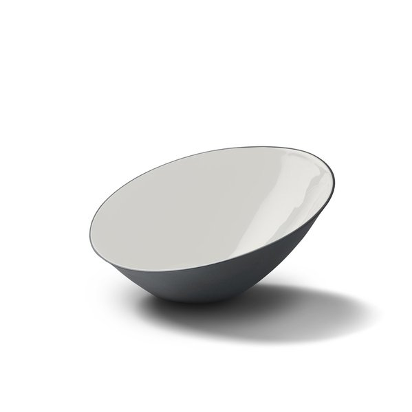 Ellipse Medium Bowl, Black&Ivory Colour
