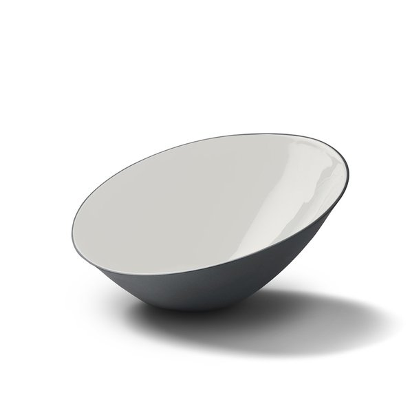 Ellipse Large Bowl, Black&Ivory Colour