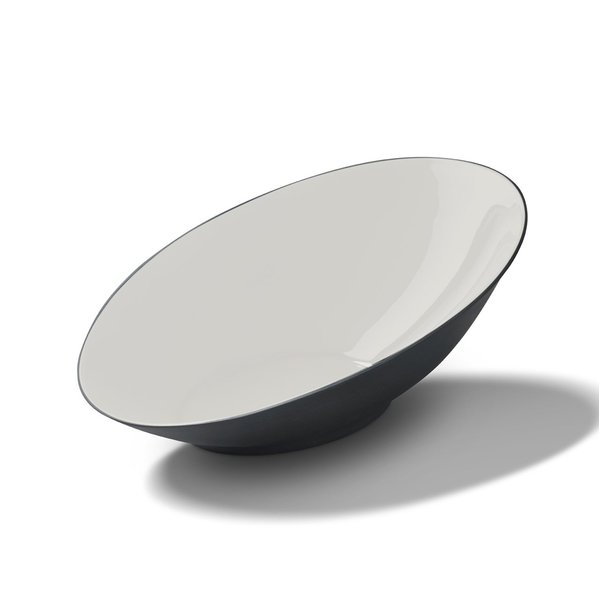 Ellipse XLarge Bowl, Black&Ivory Colour