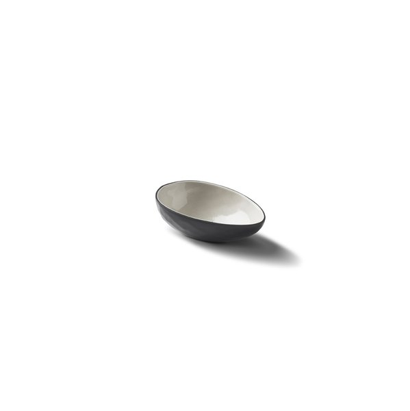 Egg Small Bowl, Black&Ivory Colour