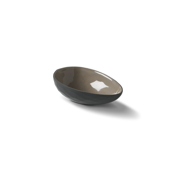 Egg Medium Bowl, Black&Rock Colour