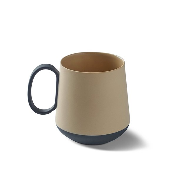 Tube Mug, Black&Straw Colour