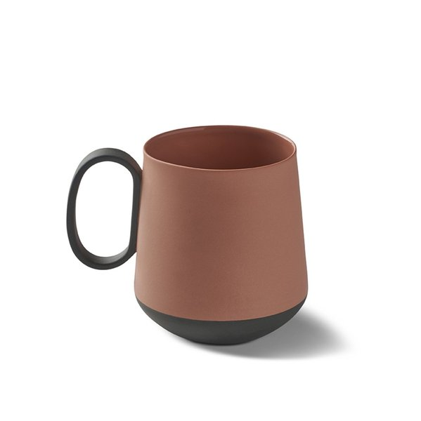 Tube Mug, Black&Coral Colour