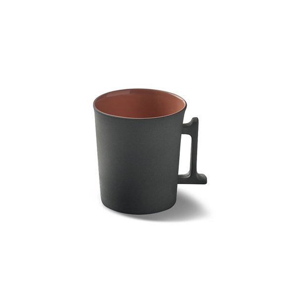Tube Espresso Cup-Saucer, Black&Rock Colour