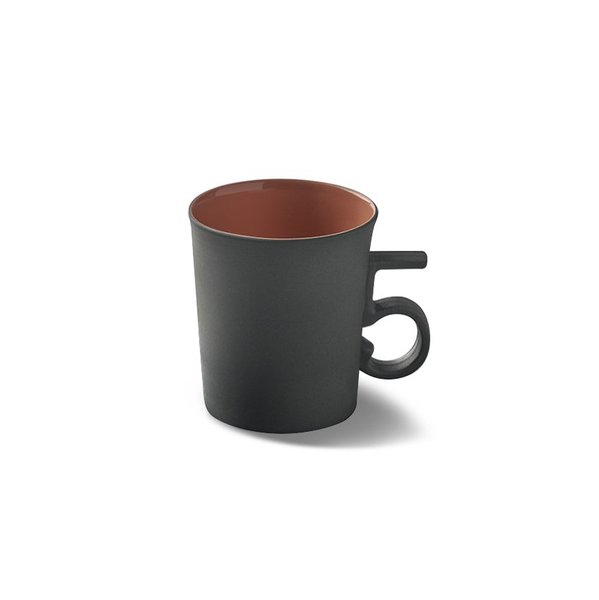 Figures Espresso Cup, Black&Coral Colour