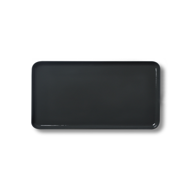 Rectangle Large Plate, Black&Straw Colour