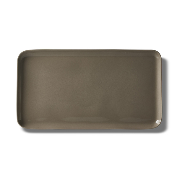 Rectangle Medium Plate, Black&Straw Colour