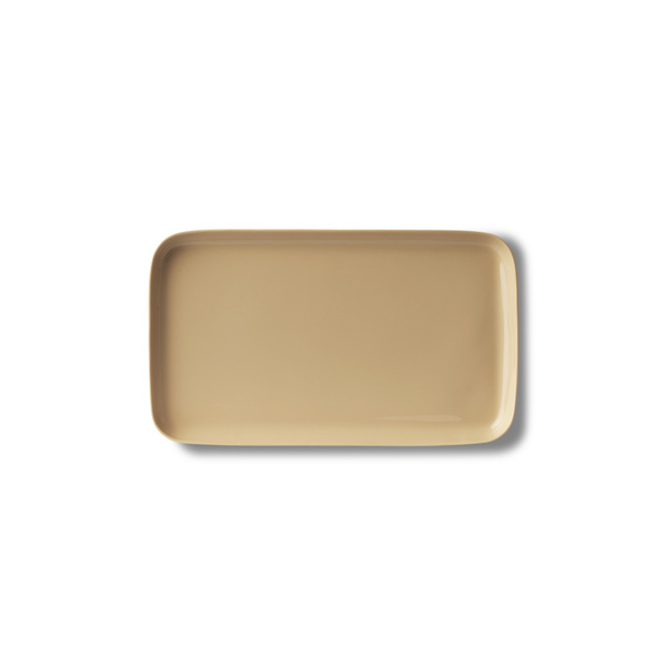 Rectangle Small Plate, Rock Colour