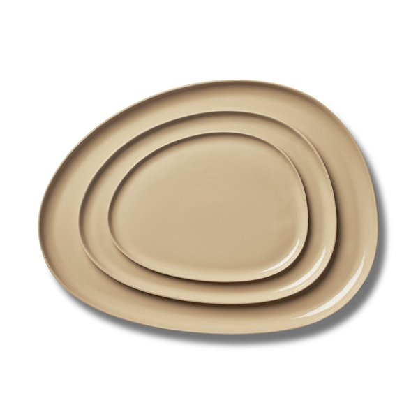 Stone Plate Sets, Straw Colour