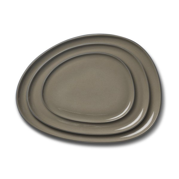 Rectangle Plate Set, Black Colour