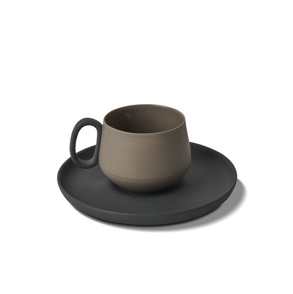 Tube Espresso Cup-Saucer, Rock Colour