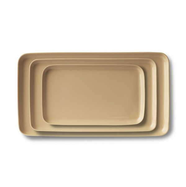 Rectangle Plate Set, Straw Colour