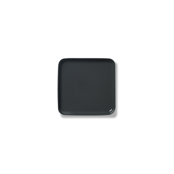 Square Serving Plate, Black Colour