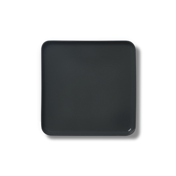 Square Small Plate, Black Colour