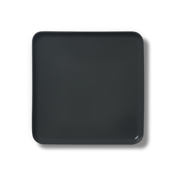Square Large Plate, Black&Straw Colour
