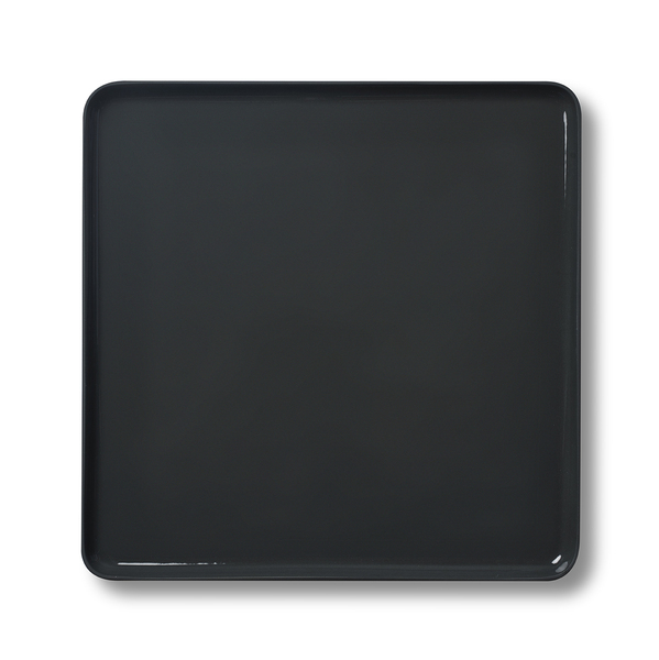 Square Serving Plate, Black&Straw Colour