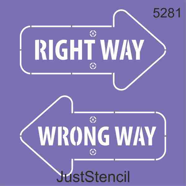 Right- Wrong Way