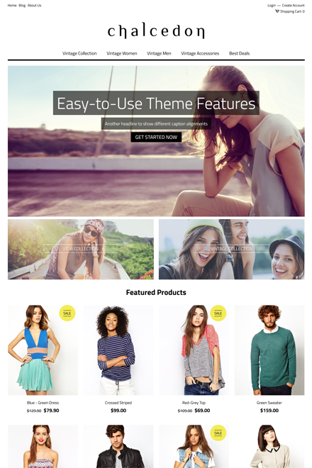 Chalcedon Ecommerce theme for Shopio
