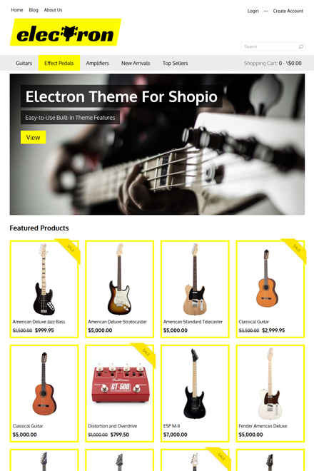 Electron Ecommerce theme for Shopio