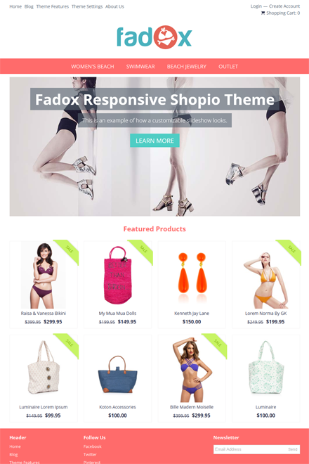 Fadox Ecommerce theme for Shopio