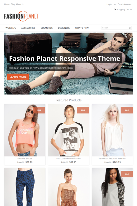 Fashion Planet Ecommerce theme for Shopio
