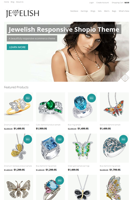 Jewelish Ecommerce theme for Shopio