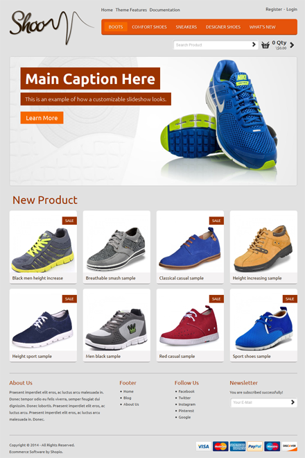 Shoo Ecommerce theme for Shopio