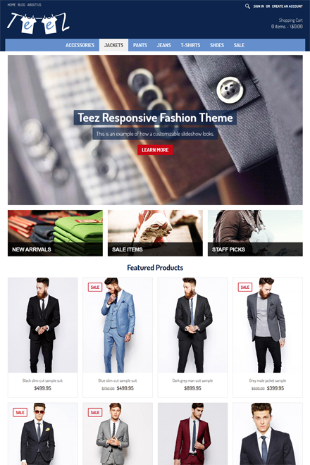Teez Ecommerce theme for Shopio